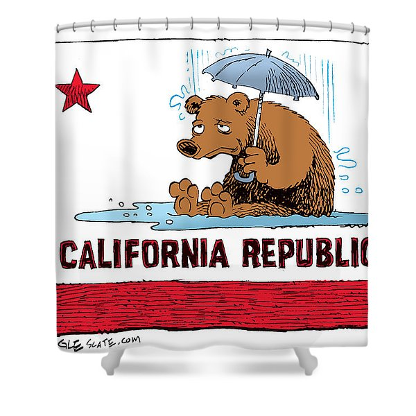 California Rain Shower Curtain