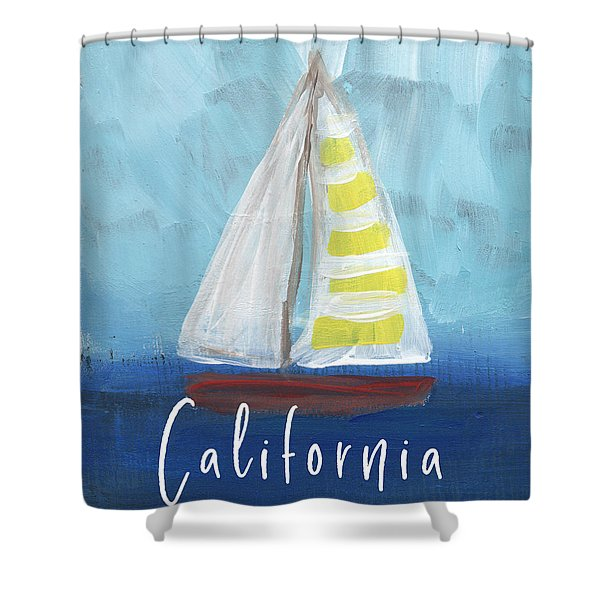 California Sailing- Art By Linda Woods Shower Curtain