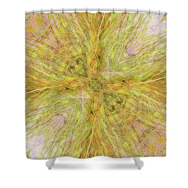 California Spring Oscillation Gemstone Shower Curtain