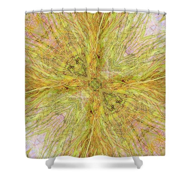 California Spring Oscillation Gemstone Shower Curtain