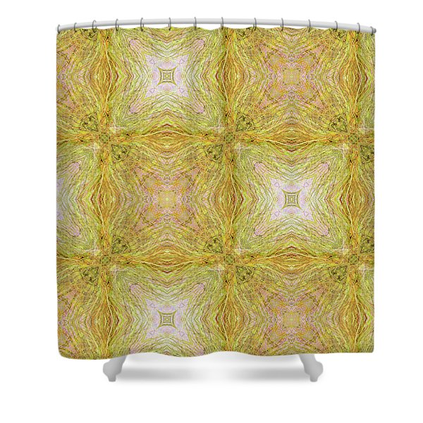 California Spring Oscillation Pattern Shower Curtain