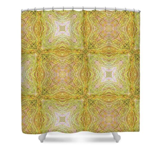 California Spring Oscillation Pattern Shower Curtain