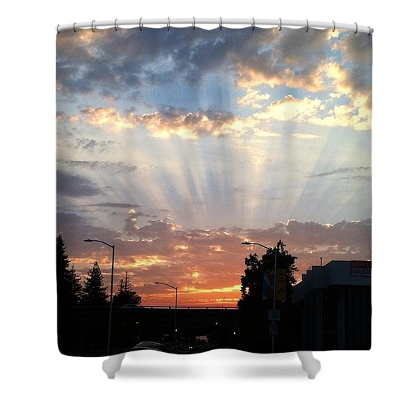 #california #sunset #nature Shower Curtain