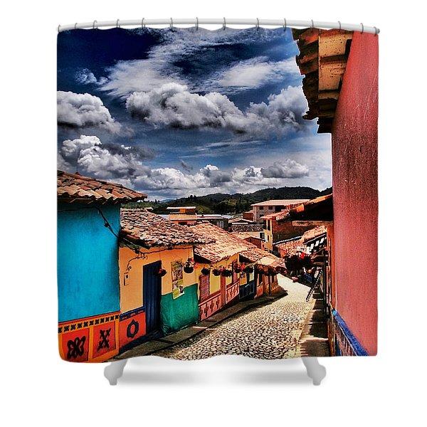 Calle De Colores Shower Curtain