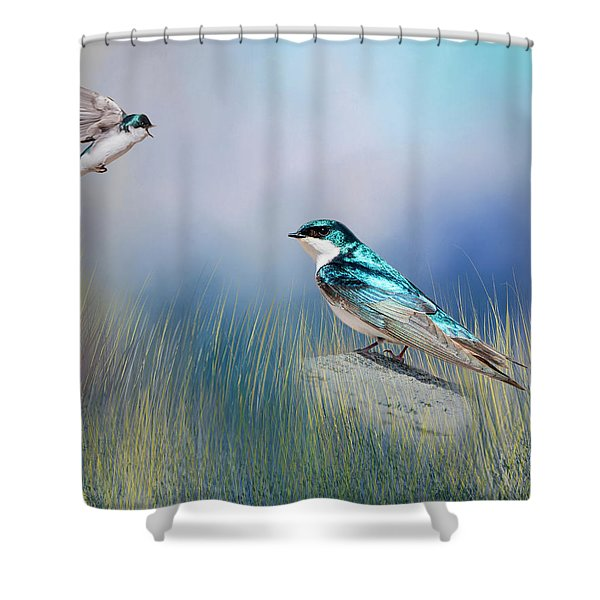 Calling His Mate Shower Curtain
