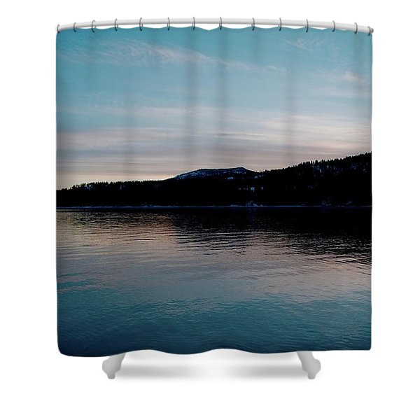 Calm Blue Lake Shower Curtain