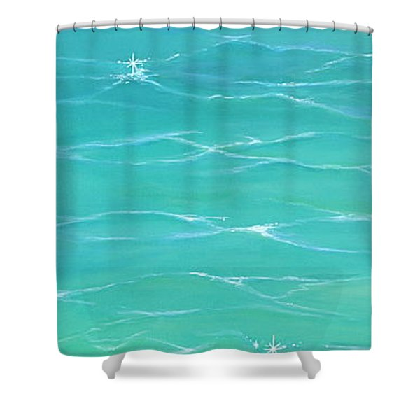 Shower Curtain featuring the painting Calm Reflections II by Mary Scott