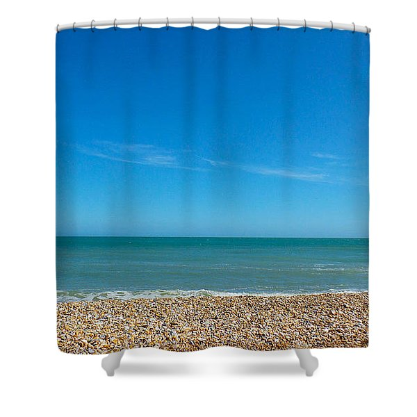 Calming Seaside View Shower Curtain
