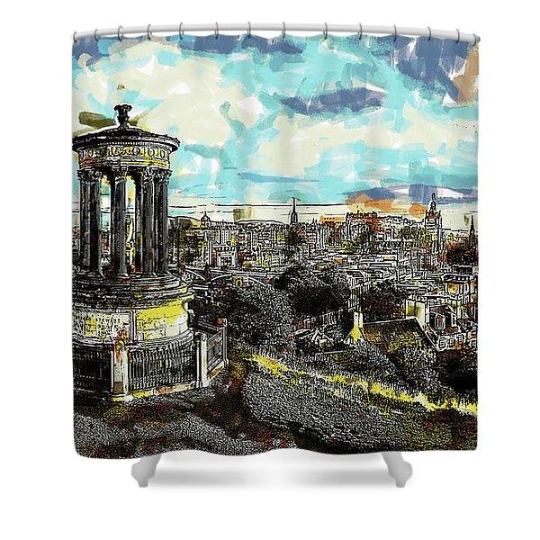 Calton Hill Edinburgh Shower Curtain