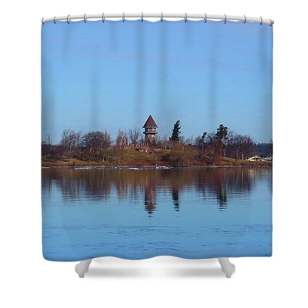 Calumet Island Reflections Shower Curtain