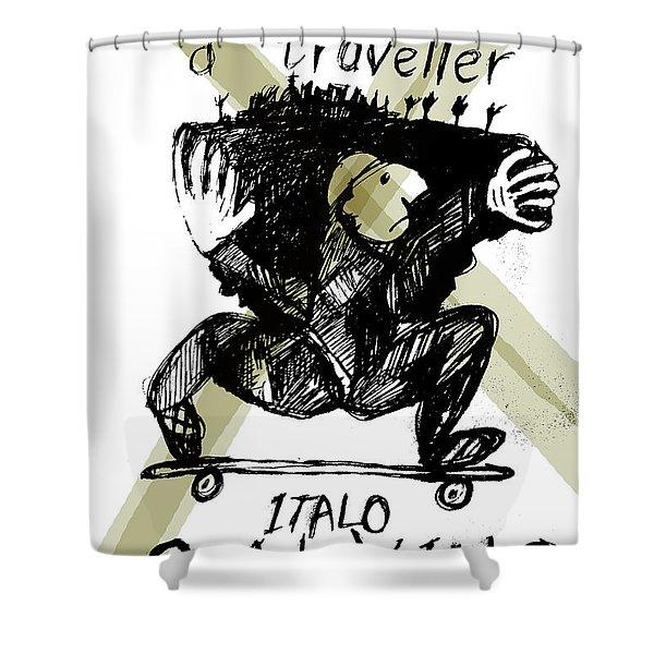 Calvino Traveller Poster  Shower Curtain