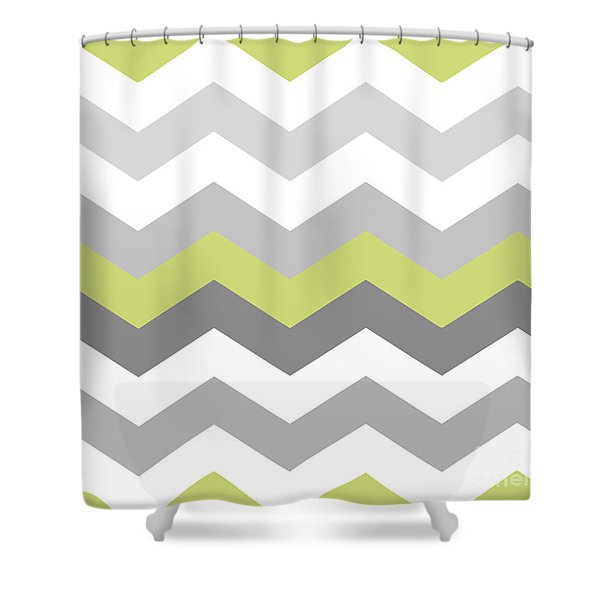 Calyx Chevron Pattern Shower Curtain