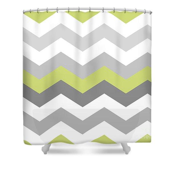 Calyx Chevron Pattern Shower Curtain