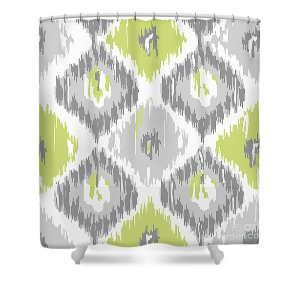 Calyx Ikat Pattern Shower Curtain