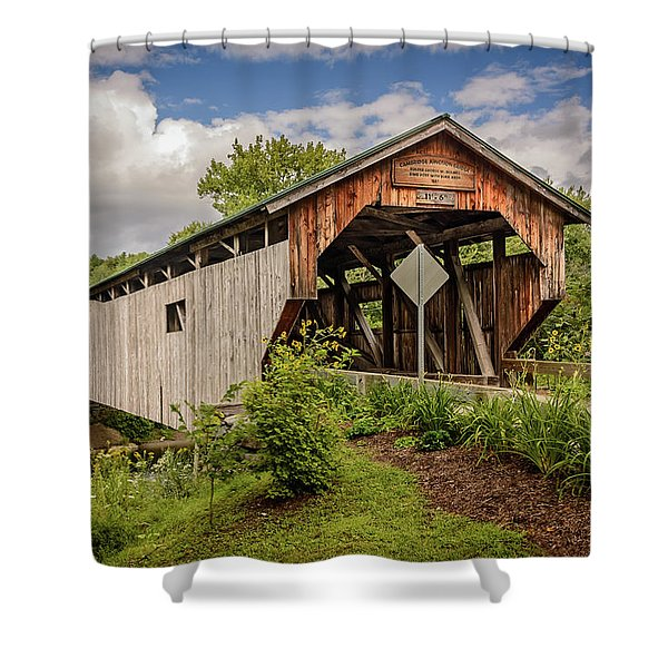 Cambridge Junction Bridge Shower Curtain