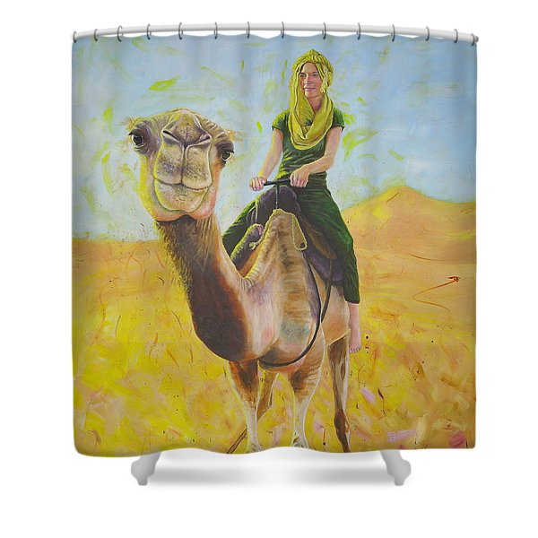 Camel At Work Shower Curtain