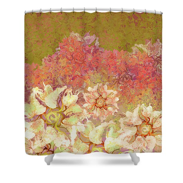 Camellia Hedges Shower Curtain