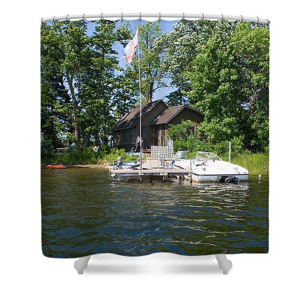 Camelot Island  Shower Curtain