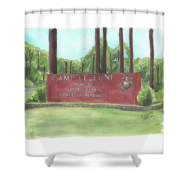 Camp Lejeune Welcome Shower Curtain