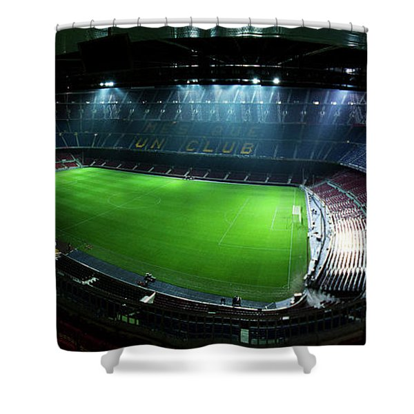 Shower Curtain featuring the photograph Camp Nou At Night by Agusti Pardo Rossello