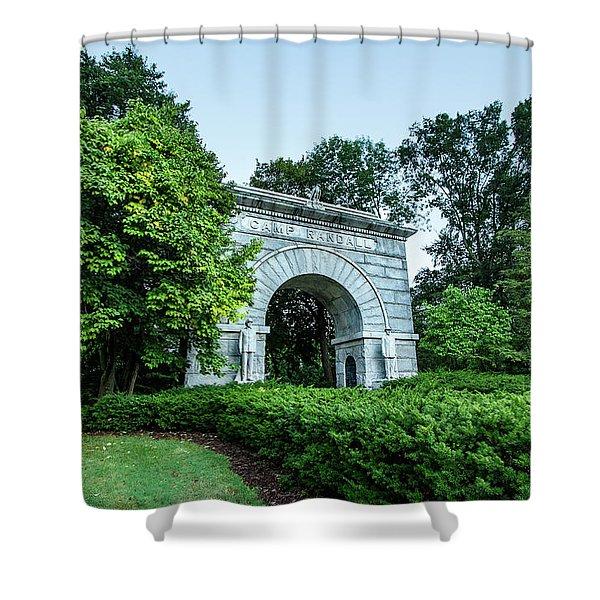 Camp Randall Memorial Arch Shower Curtain