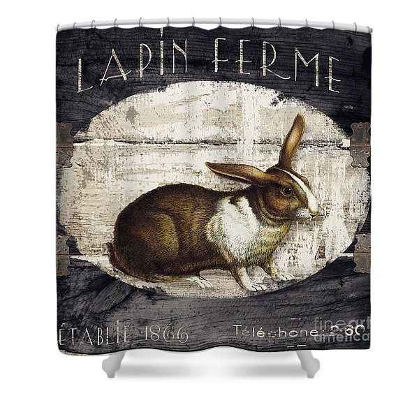 Campagne Iv Rabbit Farm Shower Curtain