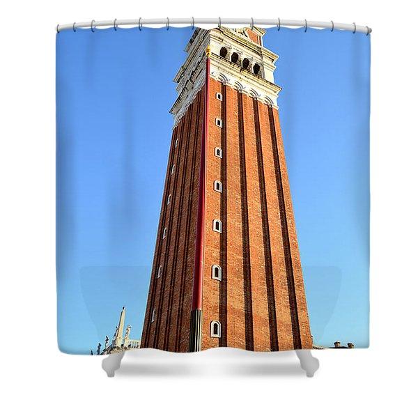 Campanile Di San Marco In Venice Shower Curtain
