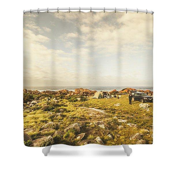 Camping, Driving, Trekking Shower Curtain