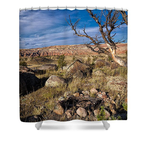 Campsite In Wind River Country Shower Curtain