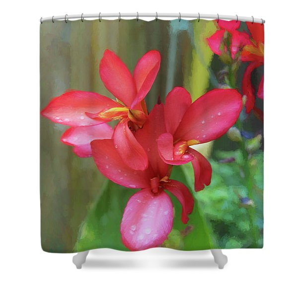 Canna Lily Delight  Shower Curtain