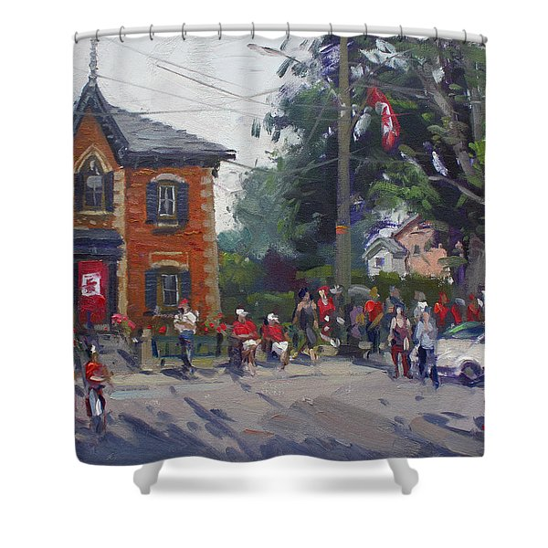 Canada Day Parade At Glen Williams  On Shower Curtain