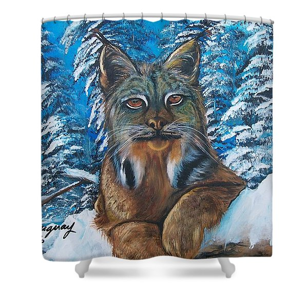 Canadian Lynx Shower Curtain