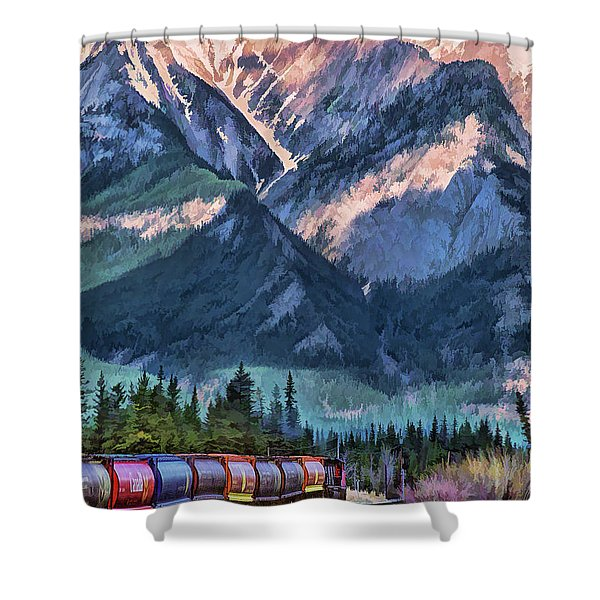 Canadian National Railway In Jasper Shower Curtain