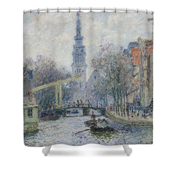 Canal Amsterdam Shower Curtain