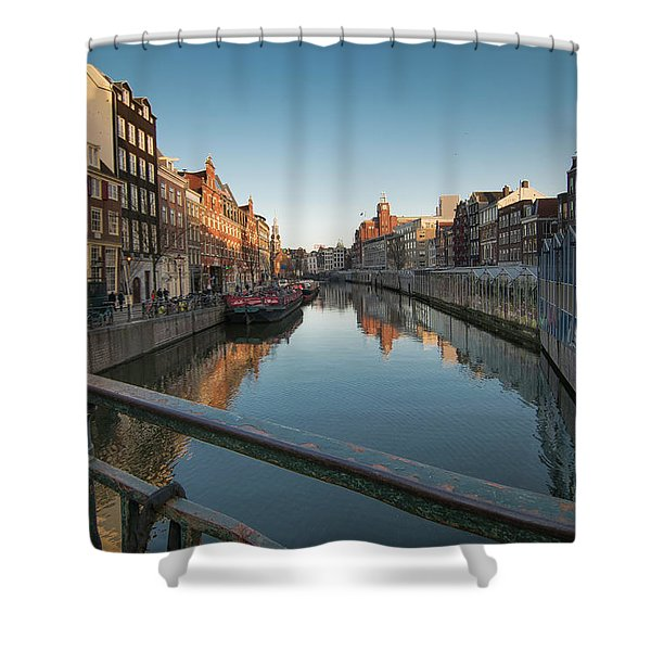 Canal From The Bridge Shower Curtain