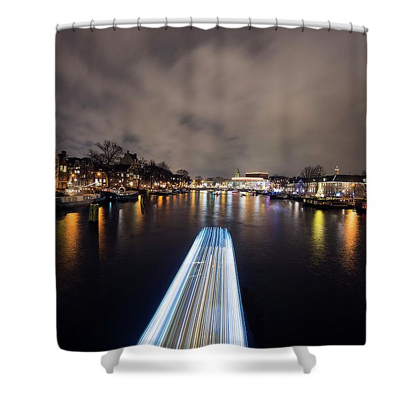 Canal Streaking I Shower Curtain