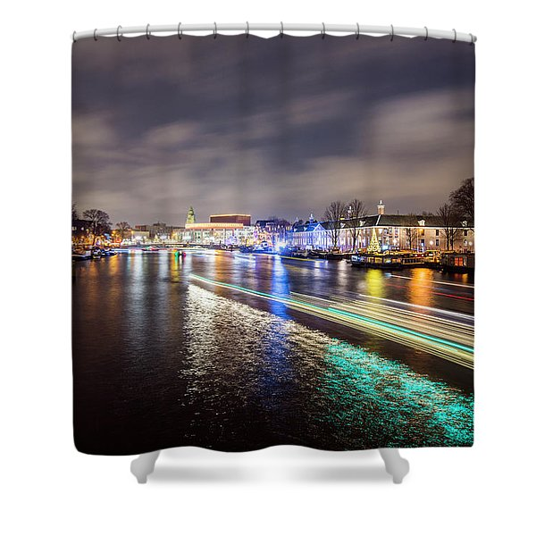 Canal Streaking Iv Shower Curtain