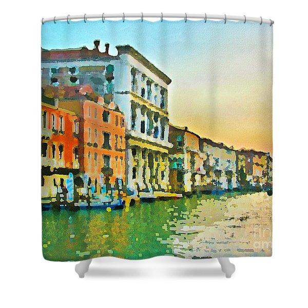 Canal Sunset - Venice Shower Curtain