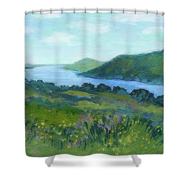 Canandaigua Lake II Shower Curtain