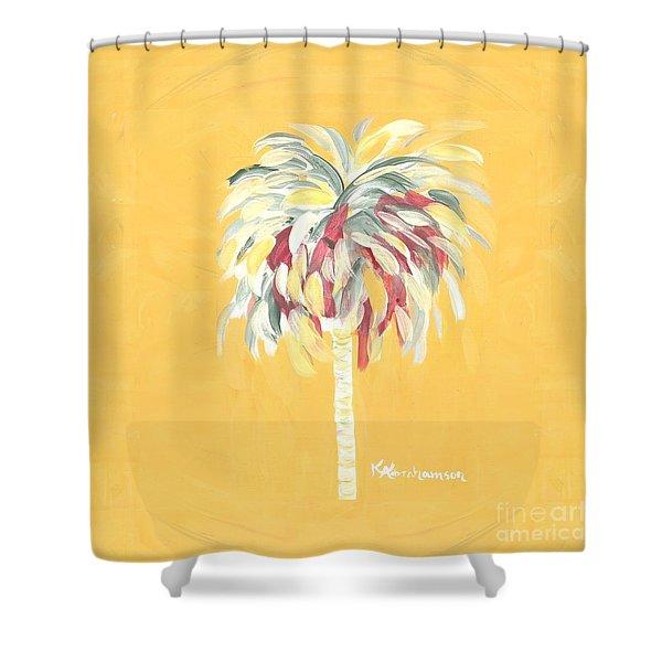 Canary Palm Tree Shower Curtain