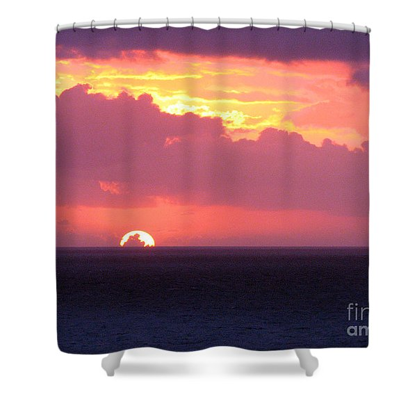 Sunrise Interrupted Shower Curtain
