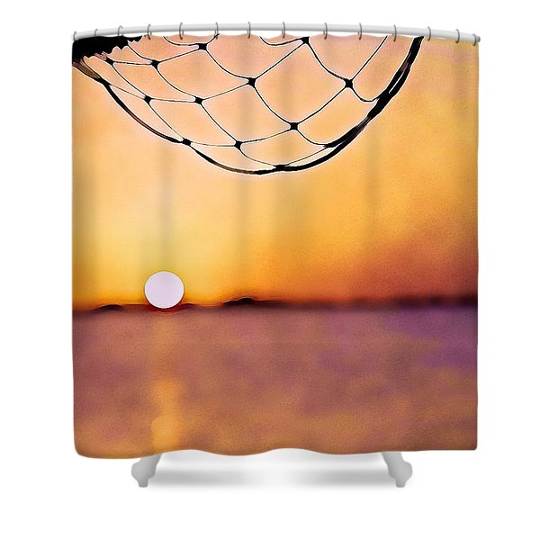 Cancun Sunset On The Lake Shower Curtain