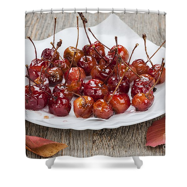 Candied Crab Apples Shower Curtain