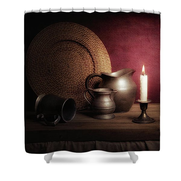 Candle Light Still Life Shower Curtain