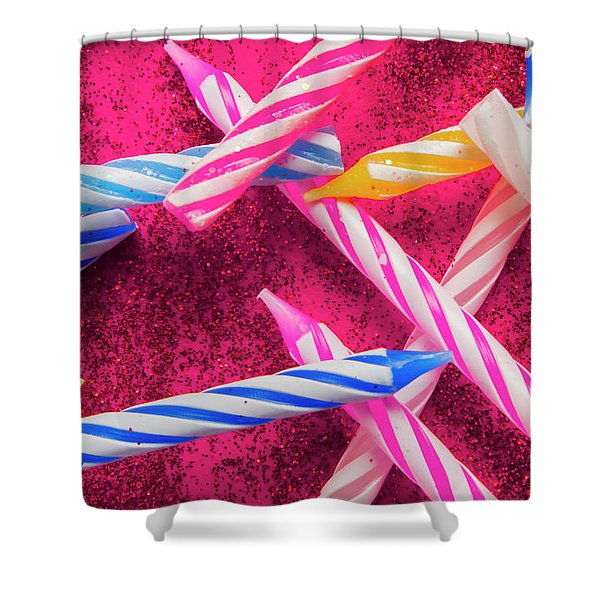 Candle Party Shower Curtain