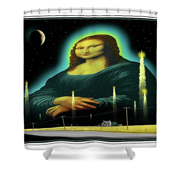 Candles For Mona Shower Curtain