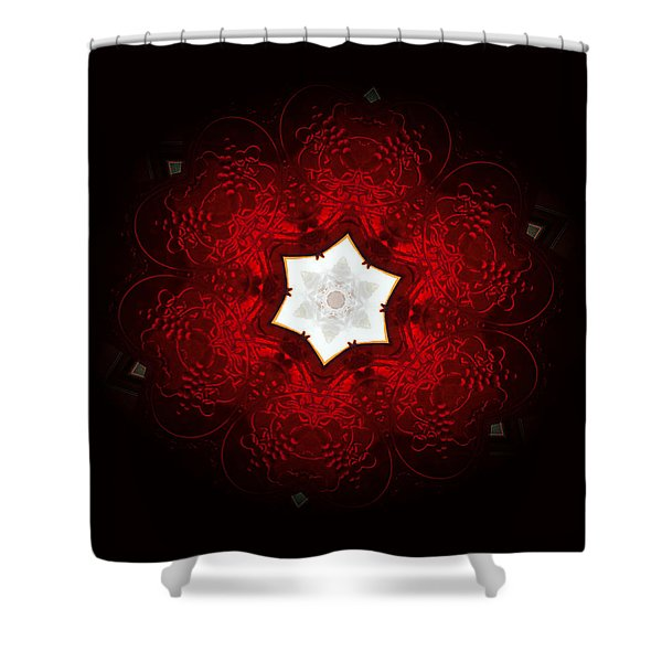 Candy Apple Red Shower Curtain