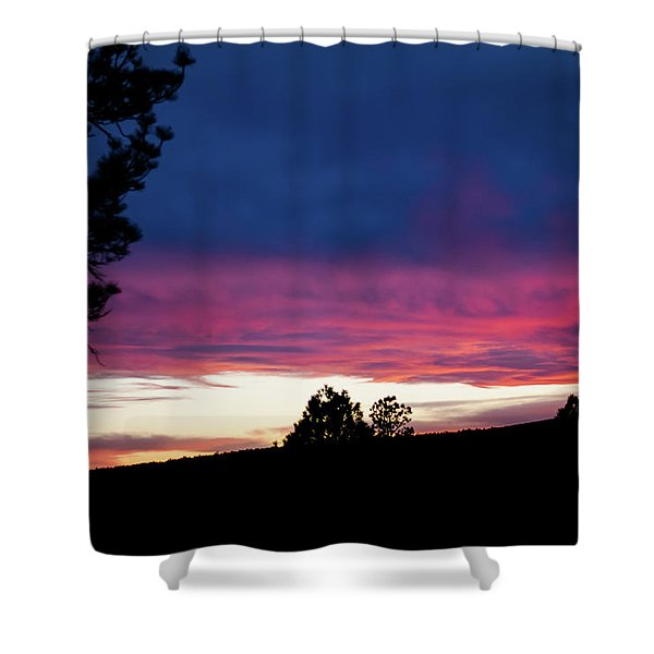 Shower Curtain featuring the photograph Candy-coated Clouds by Jason Coward