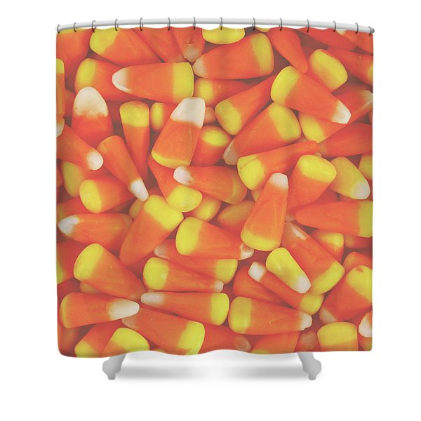 Candy Corn Square- By Linda Woods Shower Curtain