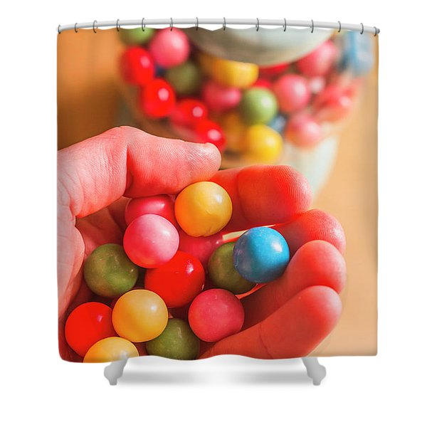 Candy Hand At Lolly Store Shower Curtain